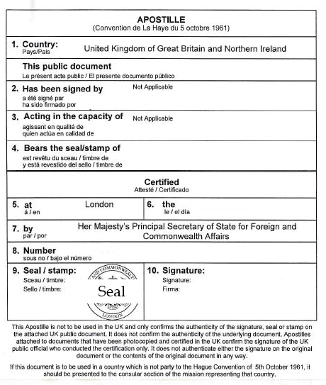 Getting apostilles for UK issued documents (and apostilles for ...